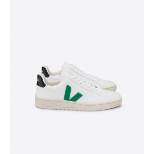 V-12 leather extra white logo