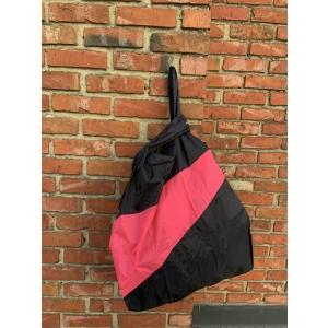 shoppingbag L black&fluo pink