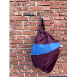 shoppingbag L burgundy&skyblu