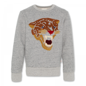 C-NECK SWEATER LEOPARD logo