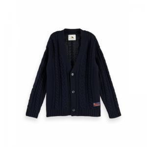 OVERSISED CABLE KNIT CARDIGAN logo