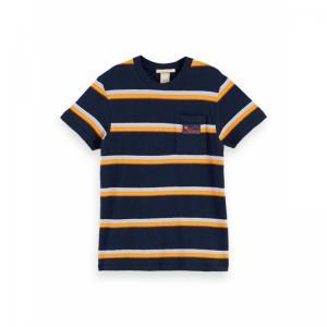 YARN DYED STRIPE SHORT SLEEVE logo