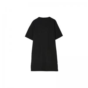 pom patches pocket long dress logo