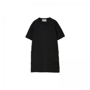 pom patches pocket long dress achblack