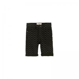 edmond denim checkers 5 pocket black denim