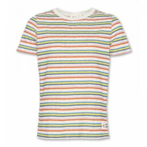 t-shirt cneck stripes logo