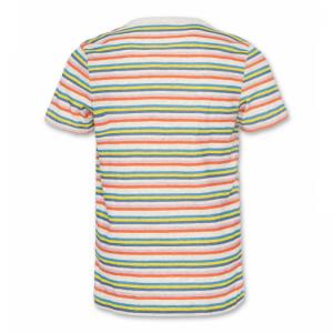 t-shirt cneck stripes oyster