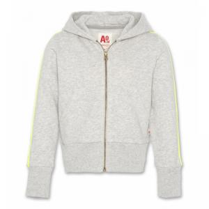 hoodie full zip tape logo