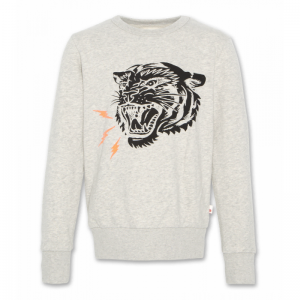 c-neck sweater tiger logo