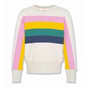 c-neck sweater stripes logo