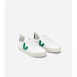 Small V laces cwl  white emeraude