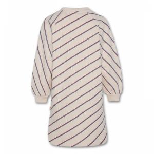 sweater striped dress logo