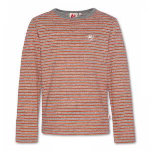 t-shirt cneck ls stripes logo