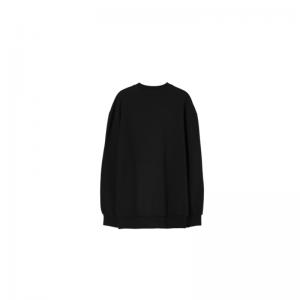 SC007 black comfort fit sweate logo