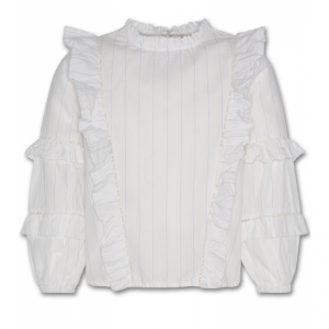 JUDY NELLY LACE SHIRT OFFWHITE